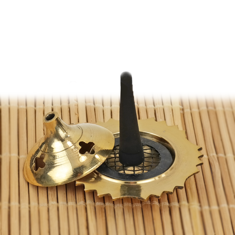 Premium Brass Cone Incense Burner