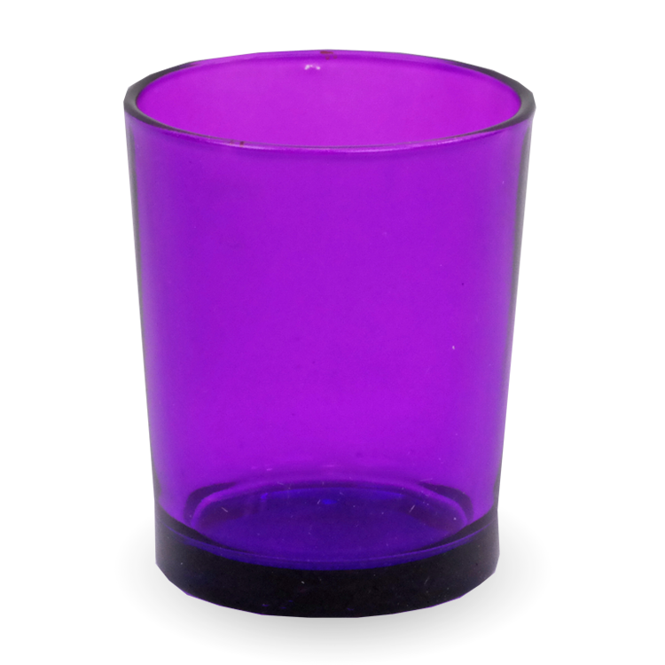 Gonesh Votives™ - Glass Votive Candle Holder Purple