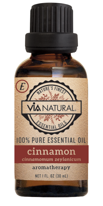Via Natural®- 100% Essential Oil- Cinnamon