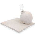 Sandstone Collection - White Bomb Vase