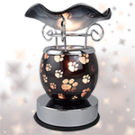 Paw Print Touch Oil Warmer - Black