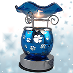 Paw Print Touch Oil Warmer - Blue