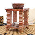Soapstone Temple Warmer- 4 Pillar Square