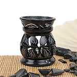 Mother Nature's Soapstone Warmer- Onyx