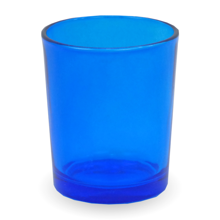 Gonesh Votives™ - Glass Votive Candle Holder Blue