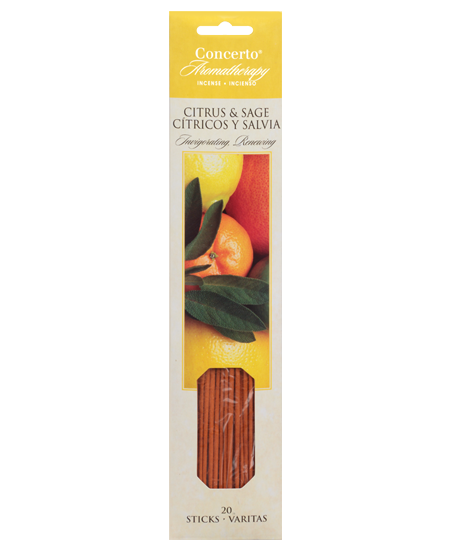 Concerto Aromatherapy - Citrus & Sage Incense Sticks