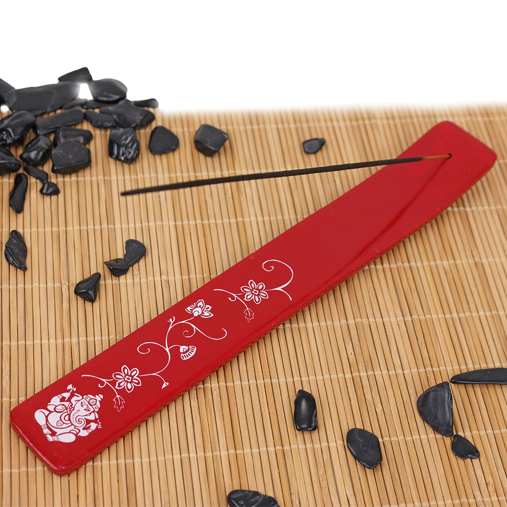 Red Gonesh Incense Holder