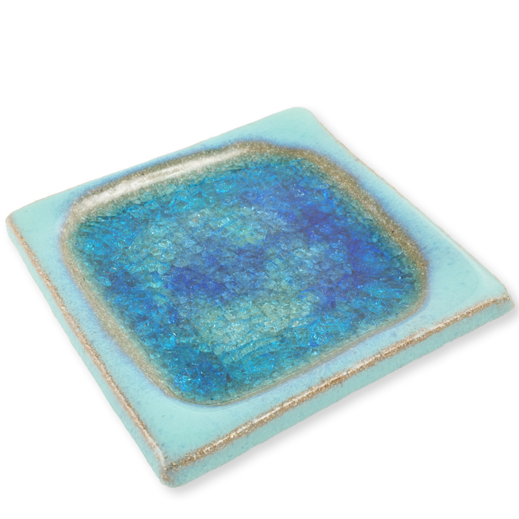 Ceramic Incense Holder Tray - Turquoise