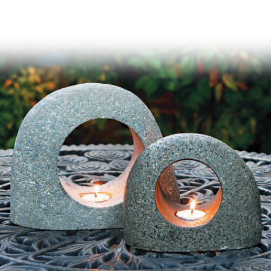Natural Moon Rock - Candle Holder
