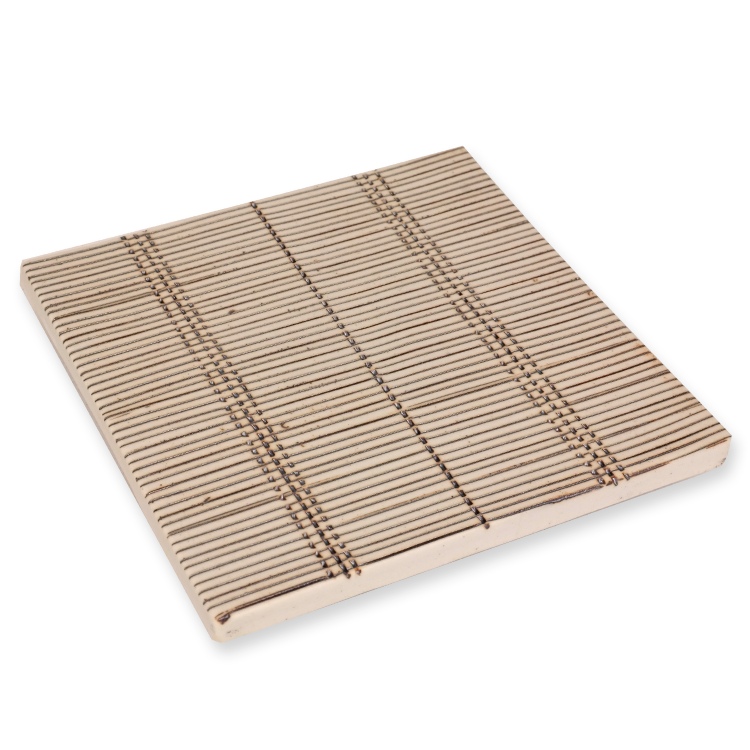 Ceramic Incense Holder Tray - Matte Thin Stripes