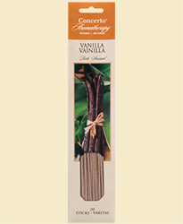 Concerto Aromatherapy - Incense Sticks Vanilla