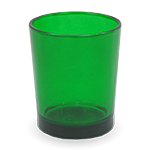 Gonesh Votives™ - Glass Votive Candle Holder Green