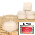 Gonesh Votives™ - White Votive Candle in Holder