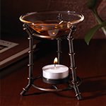 Glass Bowl Warming Oil Warmer