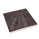 Ceramic Incense Holder Tray - Matte Brown Spiral