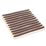 Ceramic Incense Holder Tray - Matte Wide Stripes