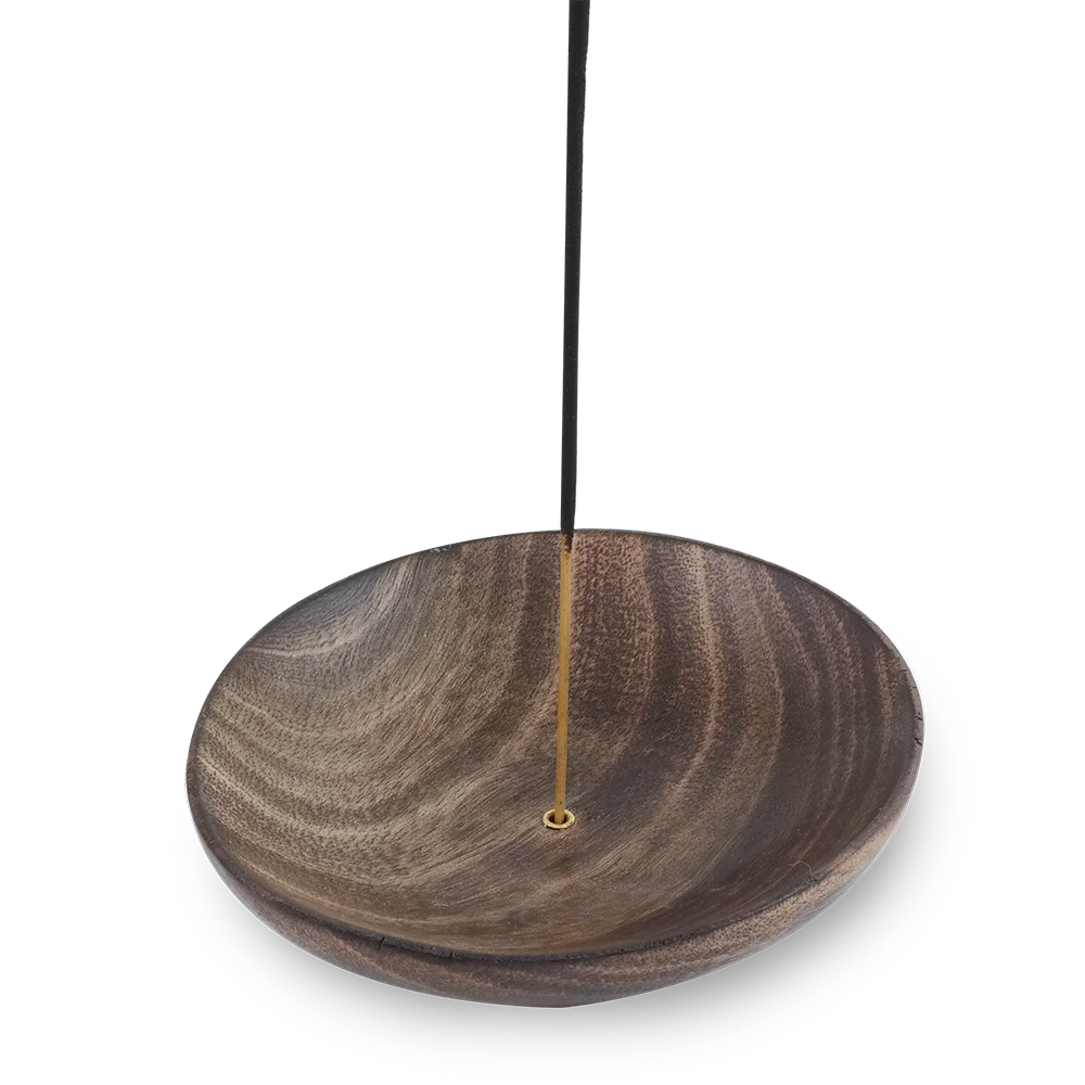 Wooden Round Stick Incense Tray Holder